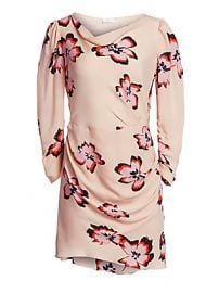 A L C  - Grace Floral Cowlneck Dress at Saks Fifth Avenue