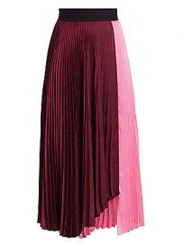 A L C  - Grainger Colorblock Pleated Midi Skirt at Saks Fifth Avenue
