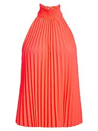 A L C  - Imani Pleated Chiffon Halter Blouse at Saks Fifth Avenue