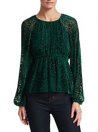A L C  - Karen Velvet Burnout Blouse at Saks Off 5th