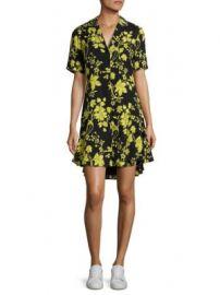 A L C  - Kayden Floral-Print Silk Shirtdress at Saks Off 5th