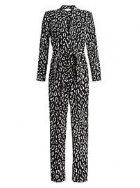 A L C  - Kieran Leopard Print Jumpsuit at Saks Fifth Avenue