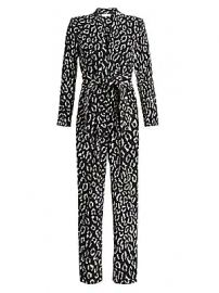 A L C  - Kieran Leopard Print Jumpsuit at Saks Fifth Avenue