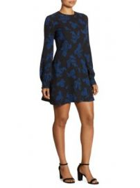 A L C  - Lauren Printed Long Sleeve Dress at Saks Fifth Avenue