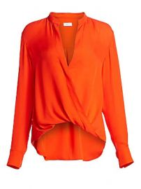 A L C  - Luca Draped Silk Blouse at Saks Fifth Avenue