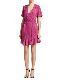 A L C  - Micah Printed Wrap Dress at Saks Off 5th