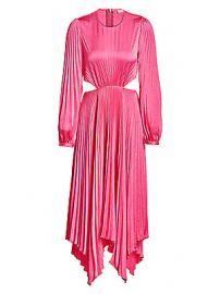 A L C  - Naples Cutout Pleated Midi Dress at Saks Fifth Avenue