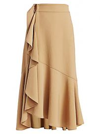 A L C  - Pierre Ruffle Trim Midi Skirt at Saks Fifth Avenue