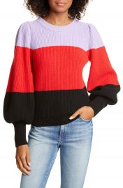 A L C    Sammy Balloon Sleeve Colorblock Sweater   Nordstrom Rack at Nordstrom Rack