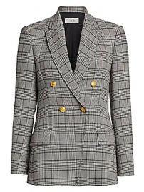 A L C  - Sedgwick II Glen Check  amp  Houndstooth Double-Breasted Jacket at Saks Fifth Avenue