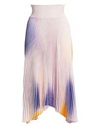 A L C  - Sonali Ombre Pleated Midi Skirt at Saks Fifth Avenue