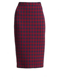 A L C  - Thea Check Wool Pencil Skirt at Saks Fifth Avenue