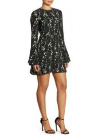 A L C  - Trixie Printed Silk Bell Sleeve Mini Dress at Saks Fifth Avenue