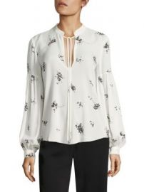 A L C  - Ty Lantern Sleeve Floral-Print Silk Blouse at Saks Fifth Avenue