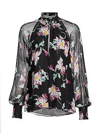 A L C  - Venetia High-Neck Floral Top at Saks Fifth Avenue