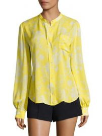 A L C  - Walter Floral-Print Silk Blouse at Saks Fifth Avenue