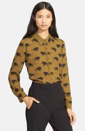 A L C   Song  Print Silk Blouse at Nordstrom