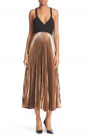 A L C  Alba Pleated Metallic Dress at Nordstrom