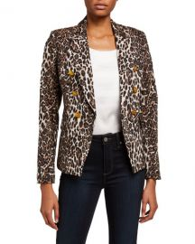 A L C  Alton Leopard-Print Jacket at Neiman Marcus