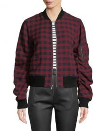 A L C  Andrew Plaid Wool Bomber Jacket at Neiman Marcus