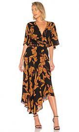 A L C  Avi Dress in Black  amp  Ochre from Revolve com at Revolve