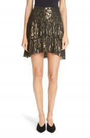 A L C  Baxter Silk Blend Skirt   Nordstrom at Nordstrom