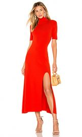 A L C  Caplan Dress in Tangerine from Revolve com at Revolve