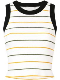 A L C  Cropped Stripe Tank Top - Farfetch at Farfetch