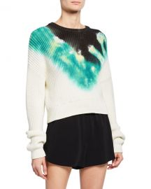 A L C  Elinor Tie-Dye Crewneck Sweater at Neiman Marcus