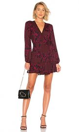 A L C  Embry Dress in Bordeaux  amp  Black from Revolve com at Revolve