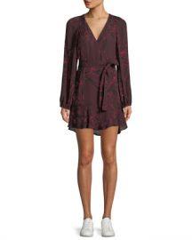 A L C  Embry Floral-Print Silk Mini Wrap Dress at Neiman Marcus