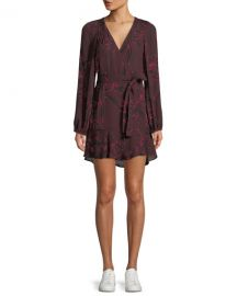A L C  Embry Floral-Print Silk Mini Wrap Dress at Neiman Marcus
