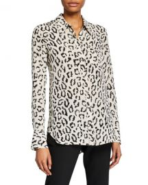 A L C  Emerson Printed Button-Down Top at Neiman Marcus