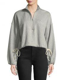 A L C  Gallagher Half-Zip Pullover Sweatshirt at Neiman Marcus