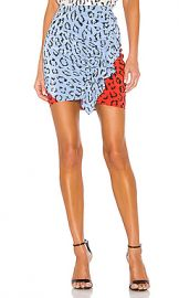 A L C  Geller Skirt in Blue  amp  Red Multi from Revolve com at Revolve