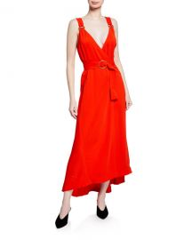 A L C  Haley Belted Sleeveless Long Dress at Neiman Marcus