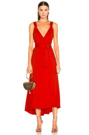 A L C  Haley Dress in Poppy   FWRD at Forward