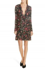 A L C  Haven Ruched Floral Print Silk Dress at Nordstrom