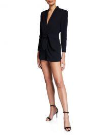 A L C  Heston Belted Short Jumpsuit at Neiman Marcus