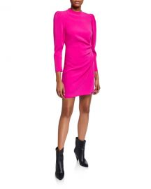A L C  Jane Side-Ruched Long-Sleeve Dress at Neiman Marcus