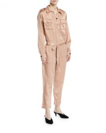 A L C  Jeter Silk Satin Jumpsuit at Neiman Marcus