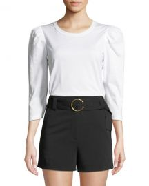 A L C  Karlie Puff-Sleeve Crewneck Tee at Neiman Marcus
