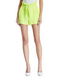 A L C  Kerry High-Waist Tie-Front Shorts at Neiman Marcus