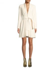 A L C  Kiera Belted Crepe Long-Sleeve Dress at Neiman Marcus