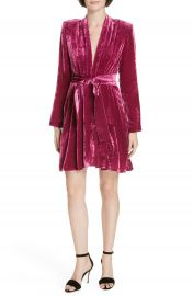 A L C  Kiera Crushed Velvet Minidress   Nordstrom at Nordstrom