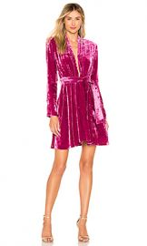 A L C  Kiera Velvet Dress in Hot Pink from Revolve com at Revolve