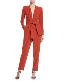 A L C  Kieran Belted Long-Sleeve Jumpsuit at Neiman Marcus