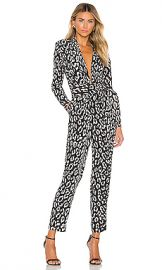 A L C  Kieran Jumpsuit in Black  amp  Cream from Revolve com at Revolve