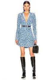 A L C  Marcella Dress in Blue   Black   FWRD at Forward