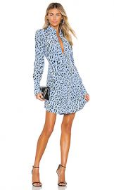 A L C  Marcella Dress in Blue  amp  Black from Revolve com at Revolve